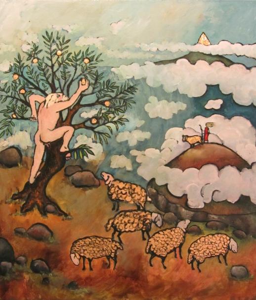 Atlas robando las manzanas en el Jardín de las Espérides