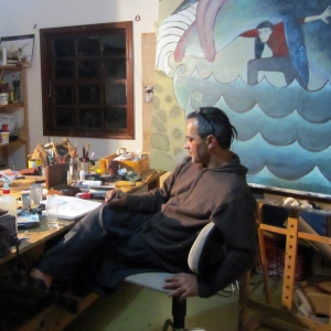 Jorge Beda en el taller