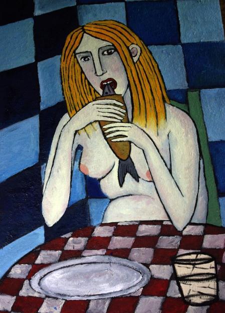mujer-comiendo-pescado-i